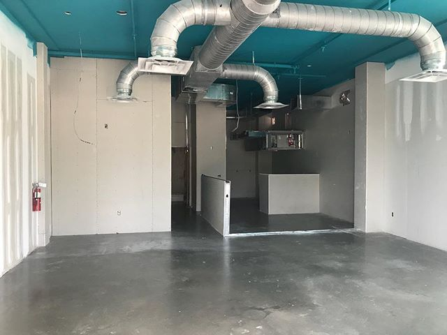 Floors are finished @kawaipokeco ! Coming very soon to East Nash at the WeWork building! #Nashville #construction #commercial #concretefloor #restaurant