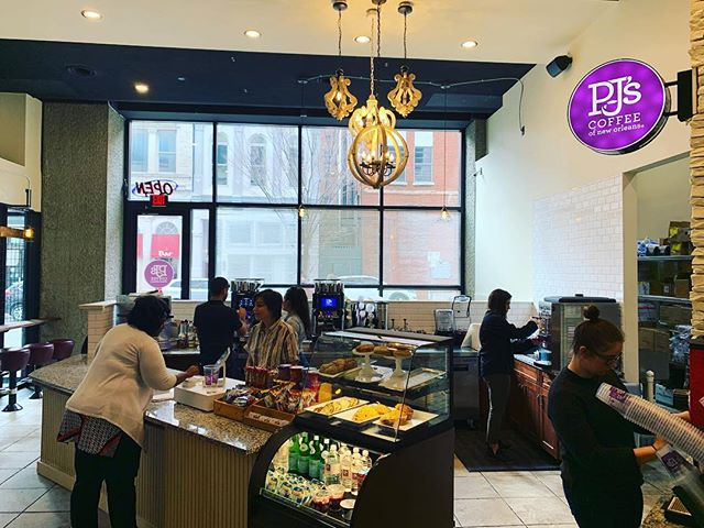 We loved working with @pjscoffee on their first Nashville location. The space turned out great! @pjscoffeenashville #construction #commercial #coffee #coffeeshop