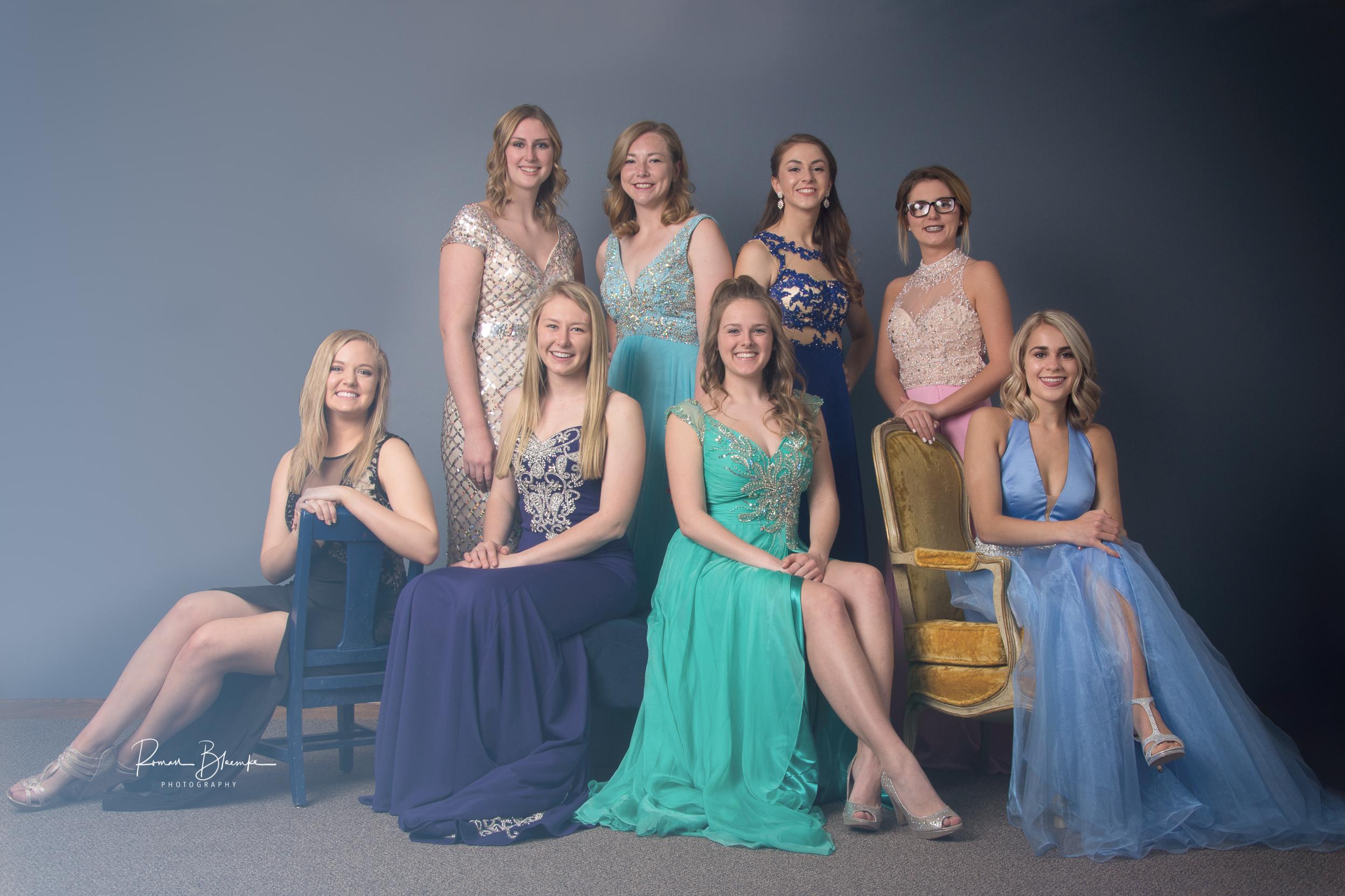 Ashley, Taylor, Erin, Olivia, Ann, Mandy, Taylor, and Alison.