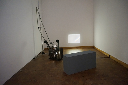 Ray, 2012 16mm film installation  New Bauhaus Chicago: Experiment Photography, Bauhaus Archiv Museum, Berlin Germany 2017