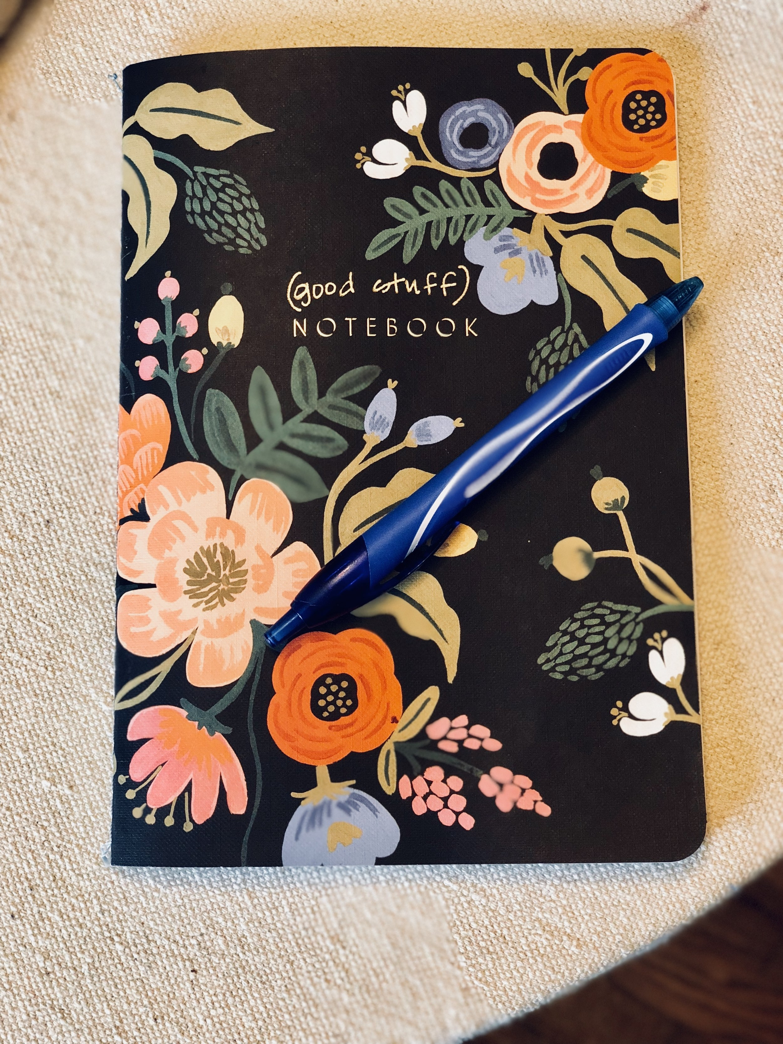 "The ""good stuff."" I love this lined notebook from The Rifle Paper Co. :)"