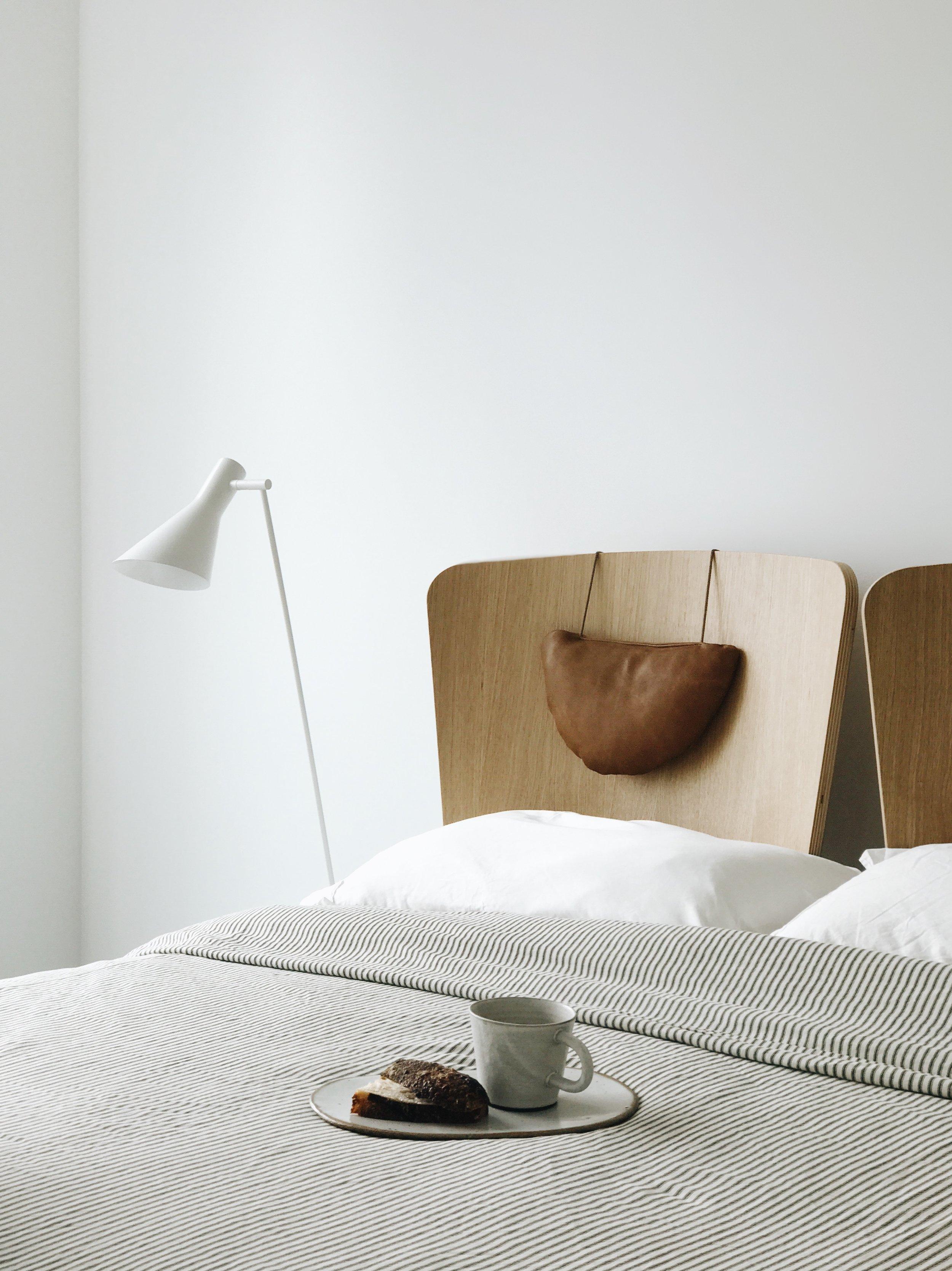 scandinavian inspired bed