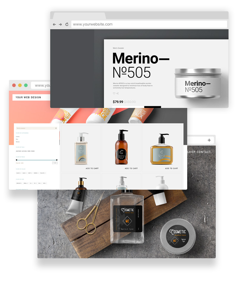 Great For Web Design - If you are a web designer or theme developer, you can use our mockup items to promote your demos to your customers. Use them in your personal or commercial projects.
