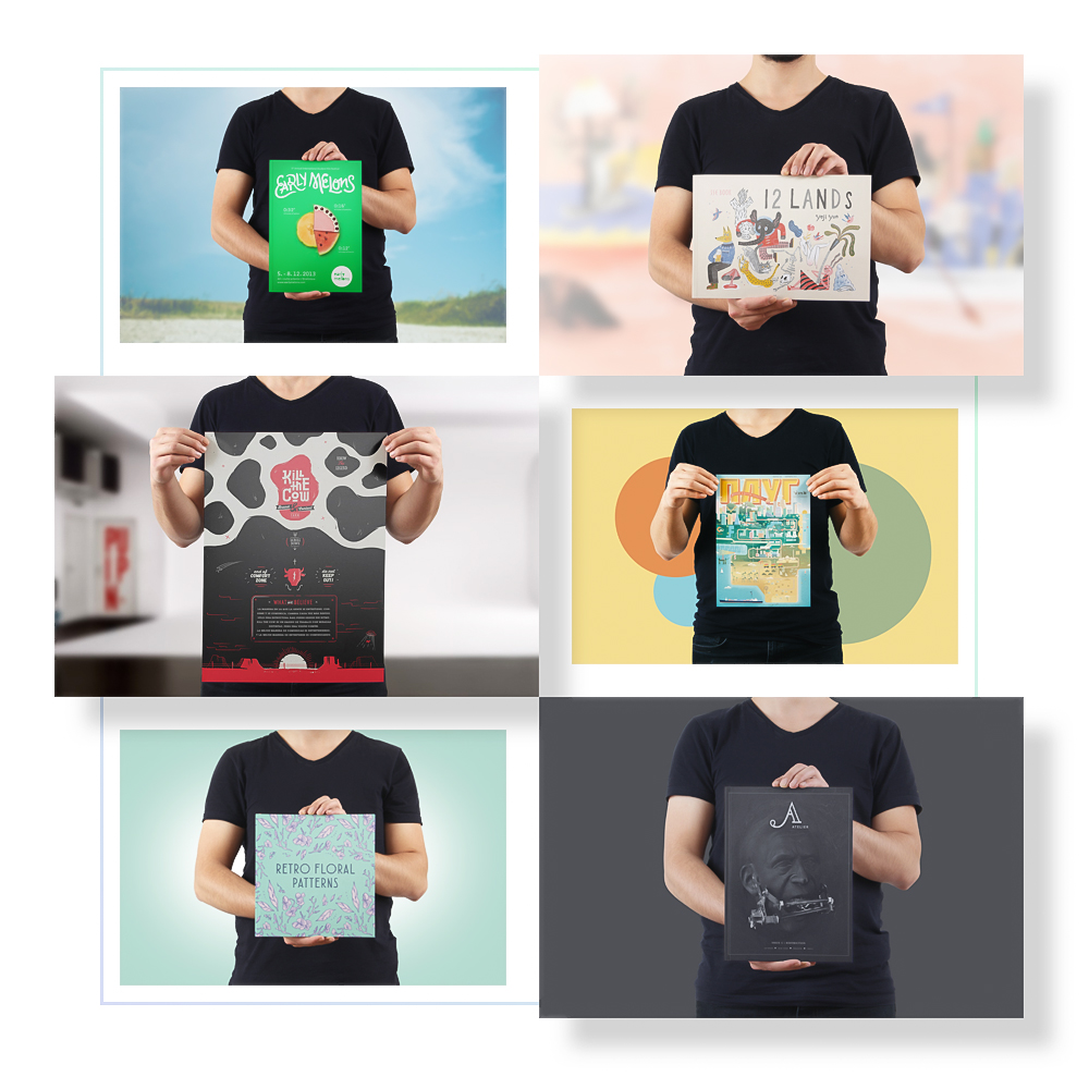 Model Holding Mockups - 11 different size poster or book cover mockups in a model hand. You can easily customize environment and reflections.Full Preview