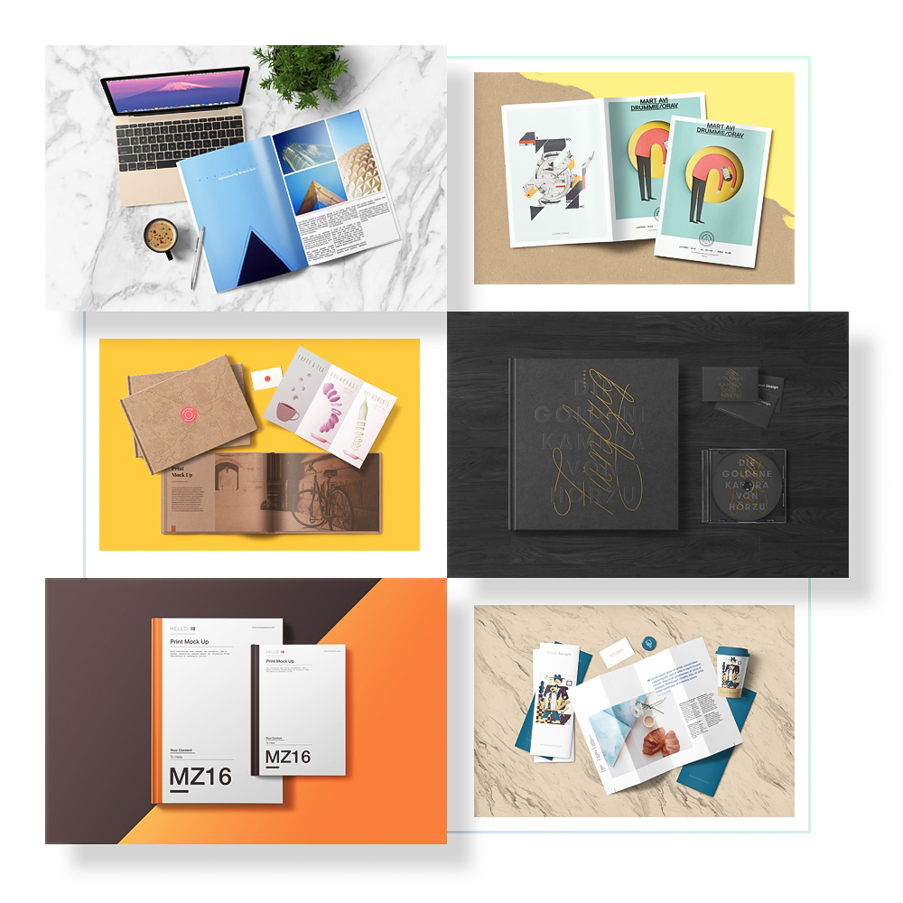 Pre-designed Top View Scenes - Also you will get some bonus additional items with this file. You can create limitless hero images or top view mockups.Full Preview