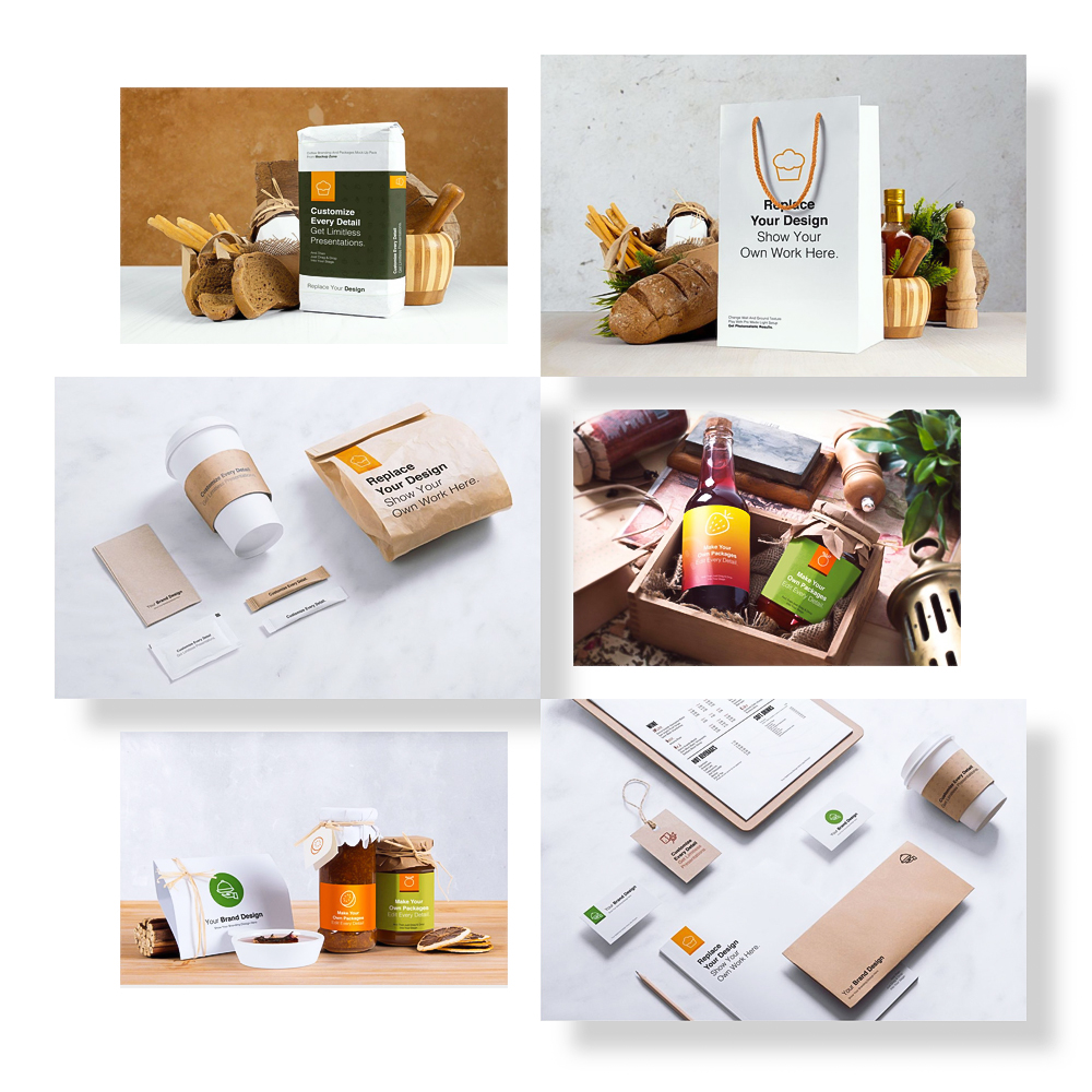 18 Perspective Mock Up Scenes - We've taken some photos with same items in this pack.Some of them like a packshot and some of them for showing your designs more effective. You can change ground or wall textures. Also there is a pre made light setup in every photo mockup.Full Preview