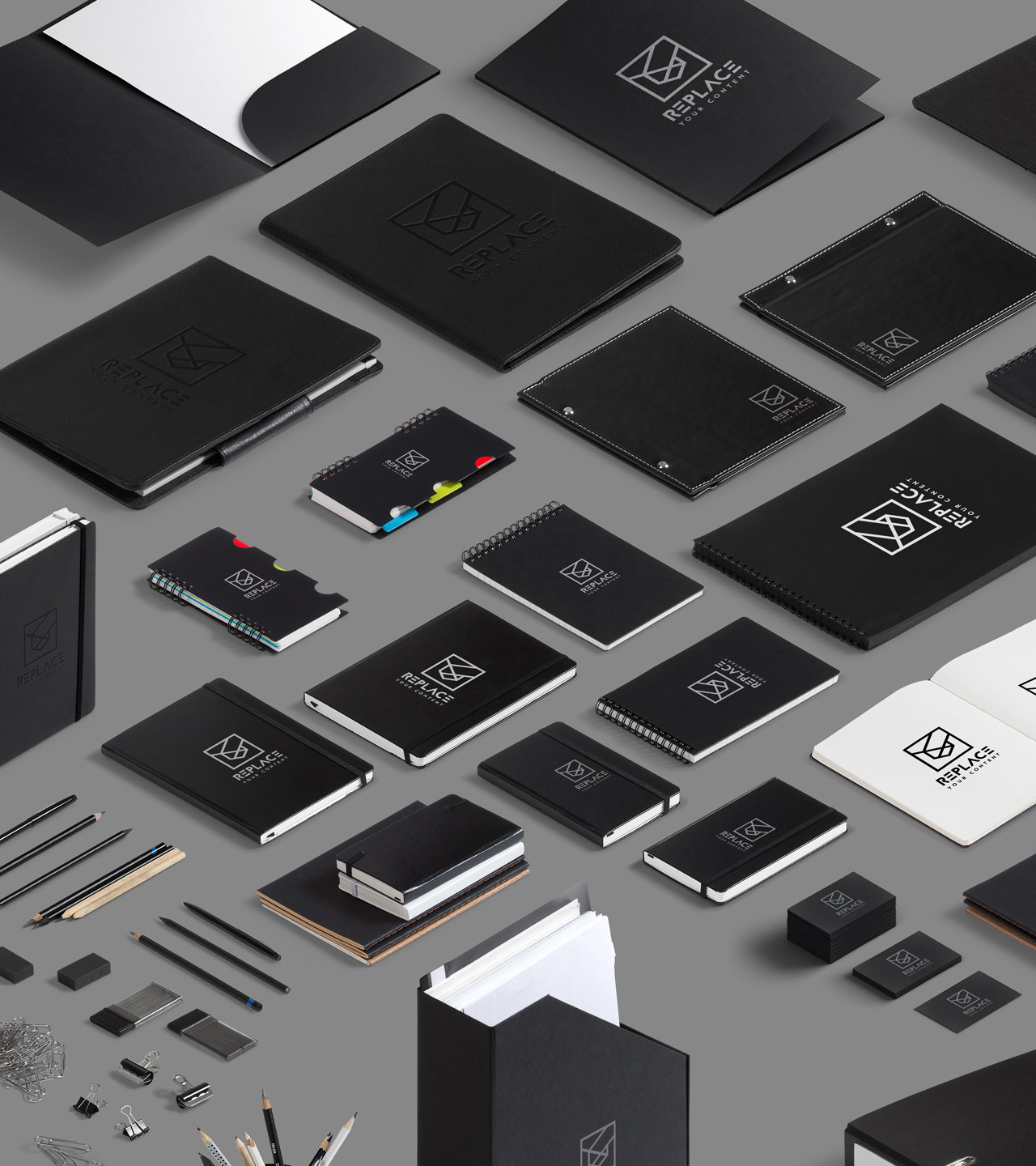 Black Items - Black is the color of the professionalism. They will look so awesome with your designs.Full Preview