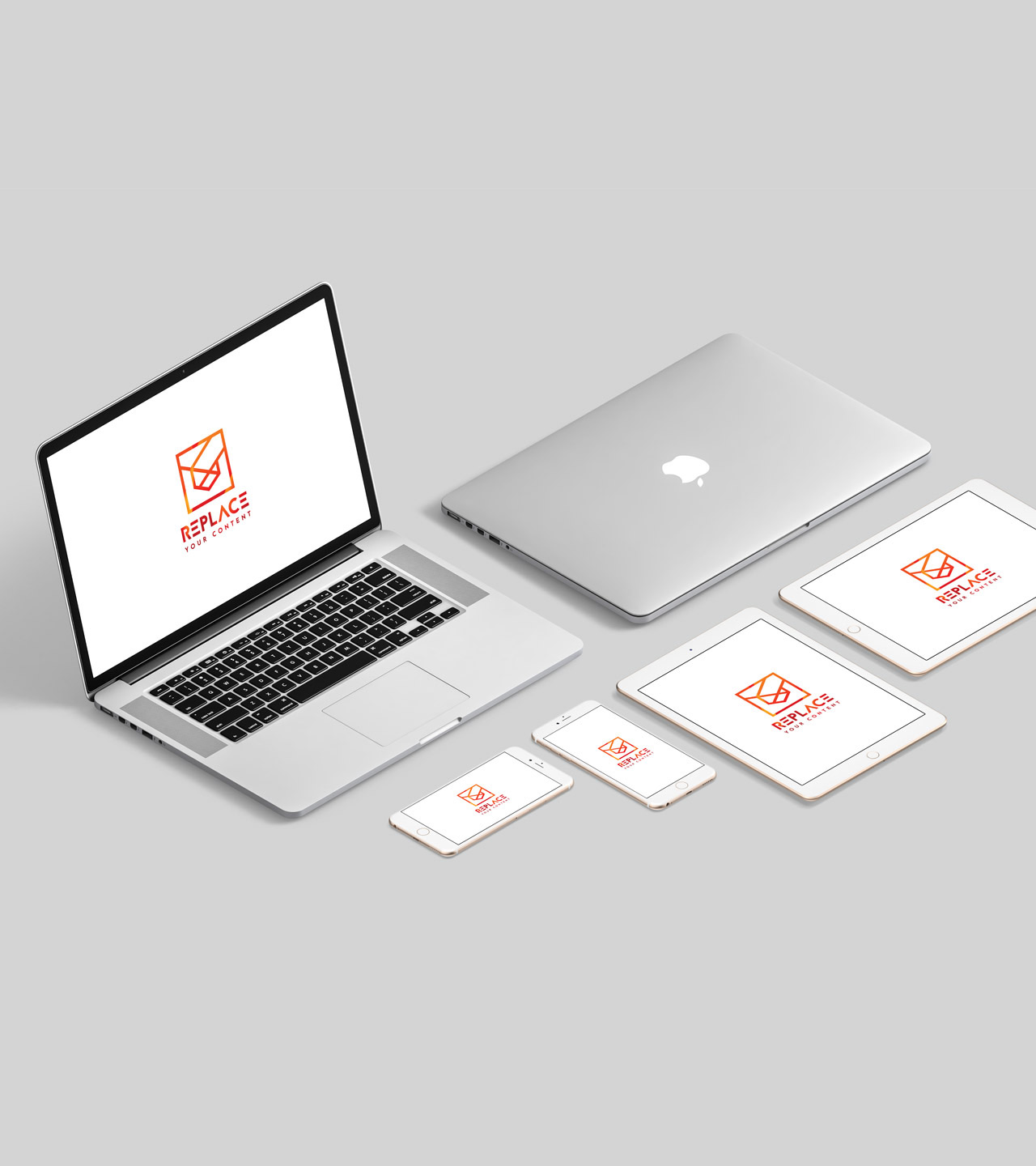 Screens! Sure - We can not imagine a branding mock up pack without brand new Apple devices.Full Preview
