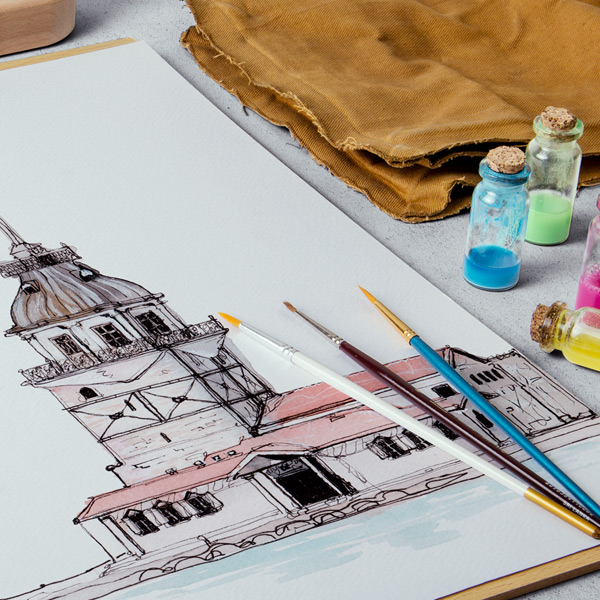 High Quality Details - All of the mockup scenes created based on high quality photos with real artist equipments.