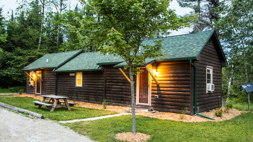 Cabins 4 and 5 are connected by a kitchen and dining area and great for 2 families or children in one end and parents at the opposite end. Everyone sleeps great!