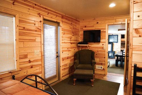 Au Sable Riverview Resort Grayling Michigan The Cottage Bedroom 8.jpg