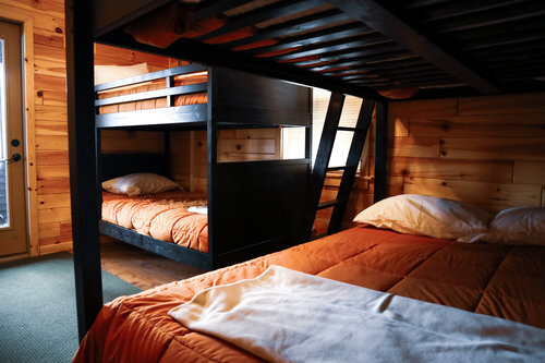 Au Sable Riverview Resort Grayling Michigan The Cottage Bunk beds 14.jpg