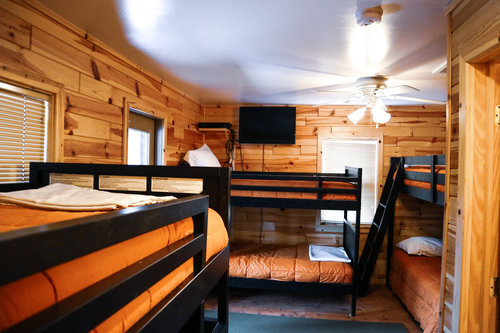 Au Sable Riverview Resort Grayling Michigan The Cottage Bunk beds 15.jpg