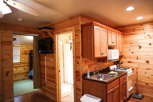 Au Sable Riverview Resort Cabin 2 Kitchen Grayling 6.jpg