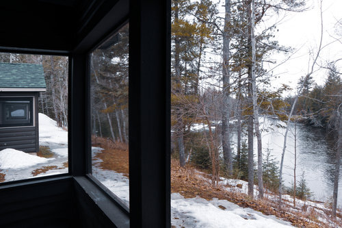 Au Sable Riverview Resort Cabin 2 view Grayling 9.jpg