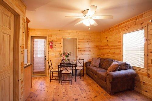 Au Sable Riverview Resort Cabin 3 Living room Grayling 3.jpg