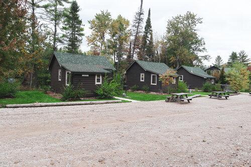 Au Sable Riverview Resort Log Vacation Cabin 6 exterior Grayling 10.jpg