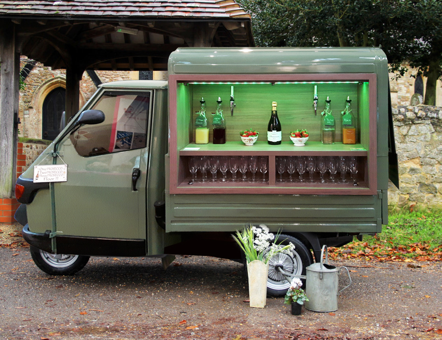 Prosecco Van Oxfordshire for weddings, parties and corporate events.