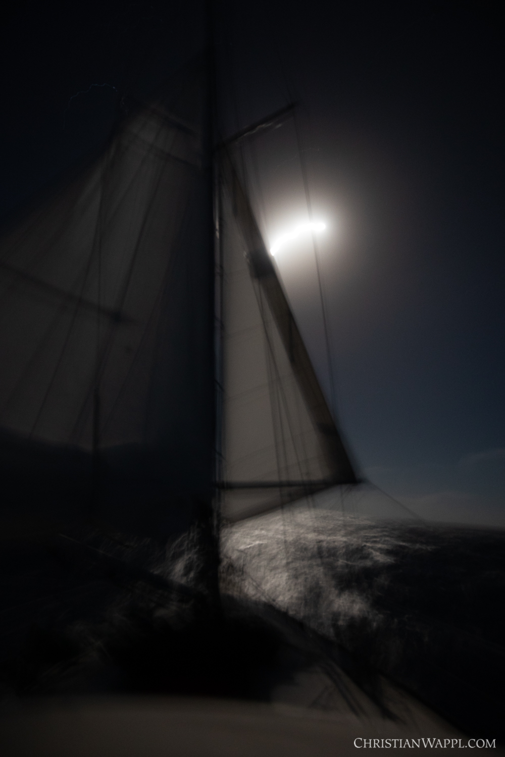 Sailing under the full moon