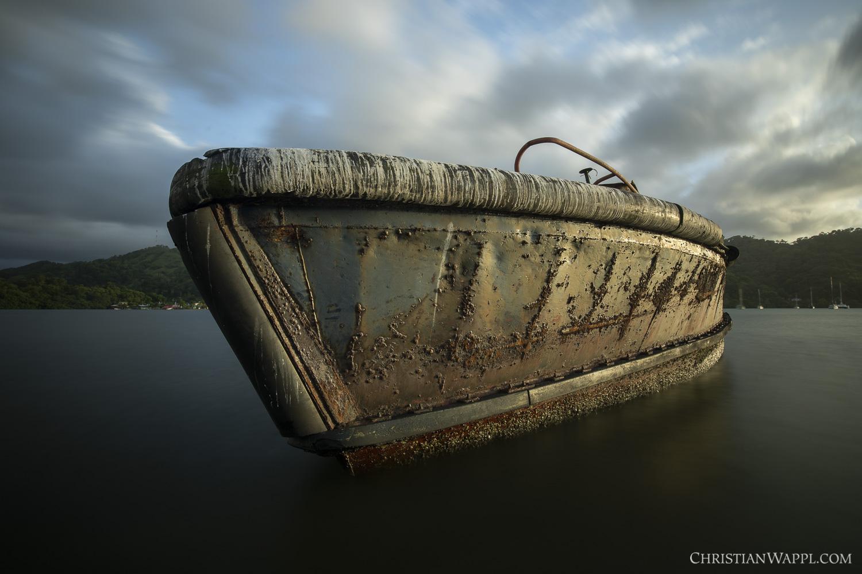 Wreck of a tugboat, Panama