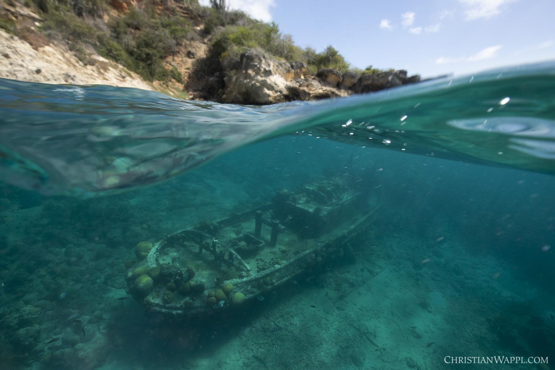 Tugboat wreck