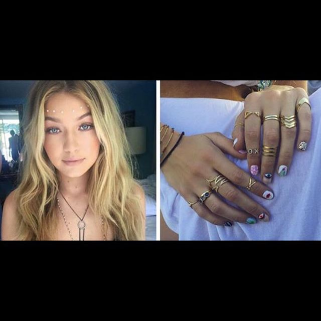 Gigi Hadid turned 21 last week & celebrated her birthday at #Coachella with these gorgeous nails! 😘💅🏽 #nailenvy
