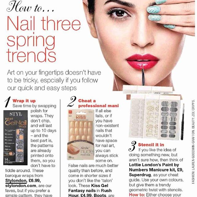 We were in @loveyoursunday Magazine yesterday, with our Gel Nail Wraps! #PR #coverage