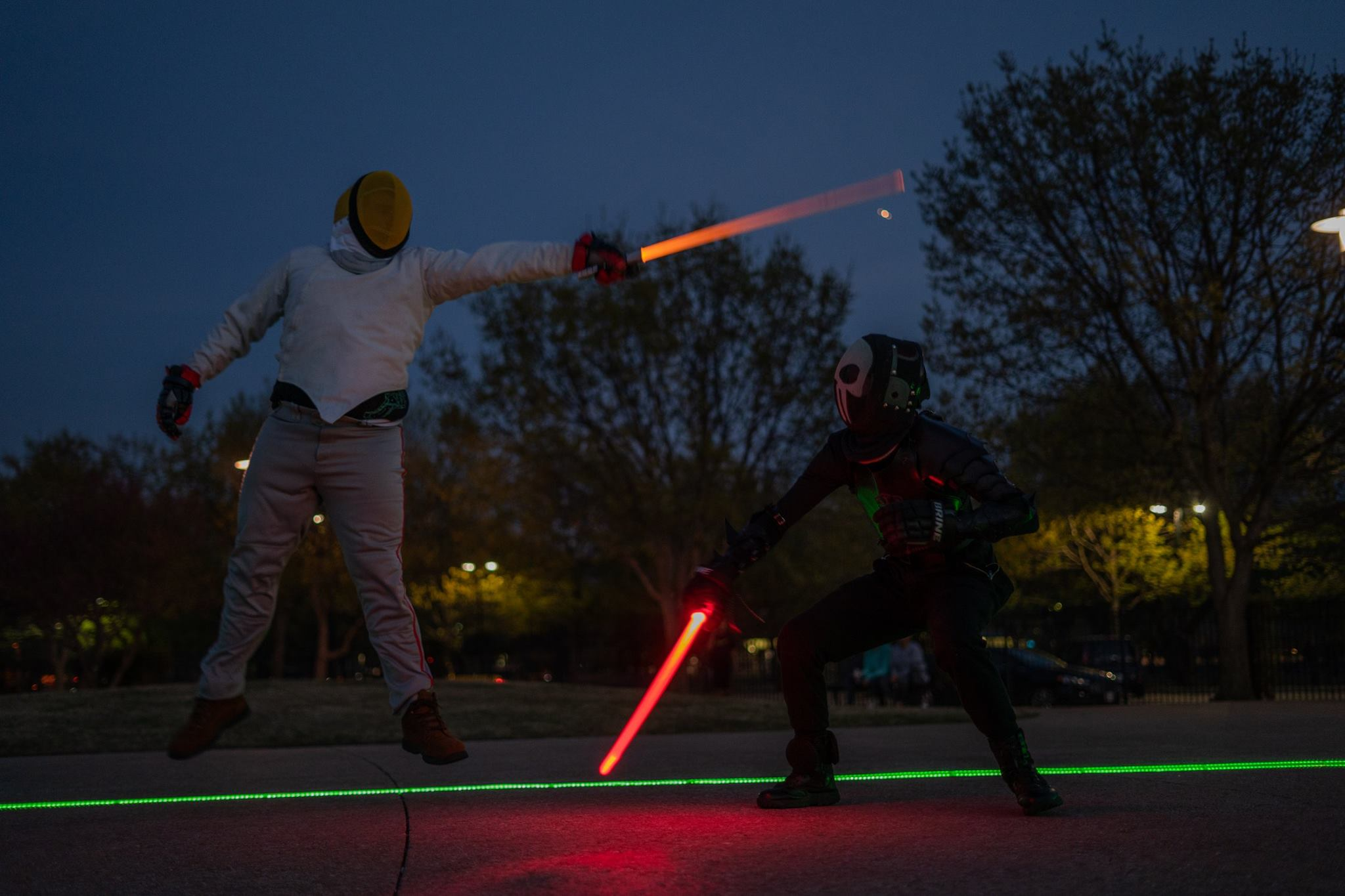 Marc Zipper's floating attack. Photo courtesy of Kyber Combat.