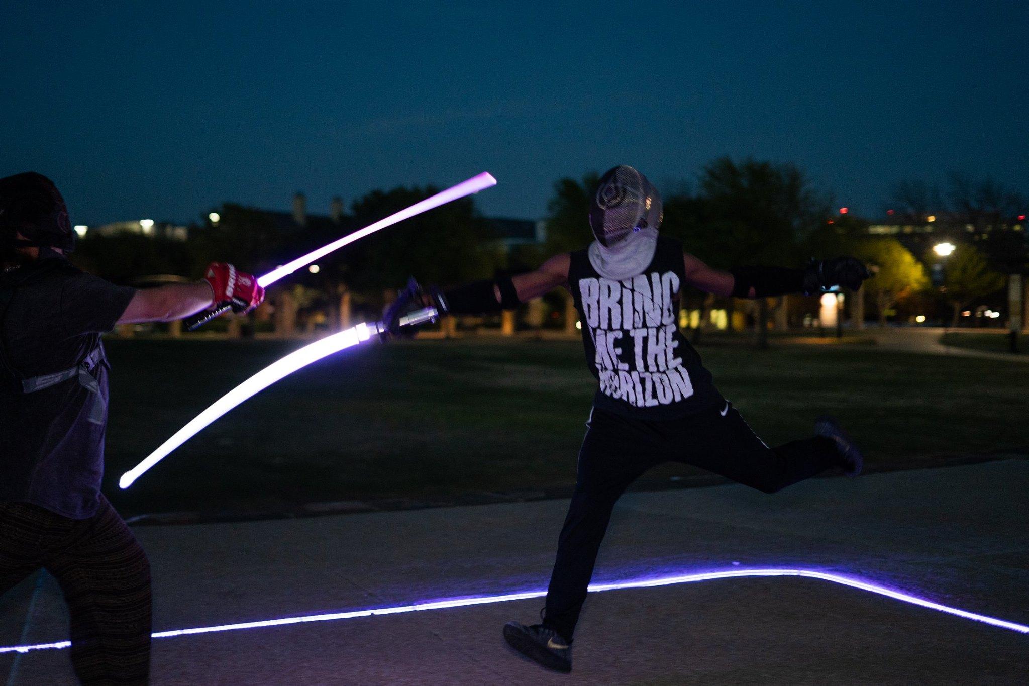 Kyle Mason leaping for joy? Photo courtesy of Kyber Combat.