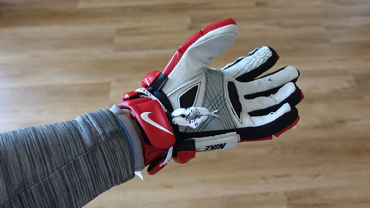 Cuffed glove offers some protection for the inner wrist