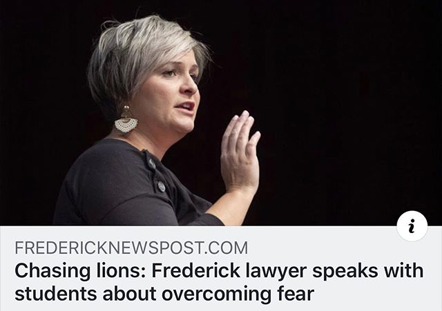Facing the fear of failure is one of my greatest accomplishments. Blessed to have had the opportunity to share the story. Check out the link in bio.  #dlaw #uniquelydifferent #dlawdoctrine #divorcelawyer #childcustody #meaghandelawter #delawterlaw #litigation #familylaw #custody #lawyer #divorce #frederick #fredericklawyer  www.delawterlaw.com