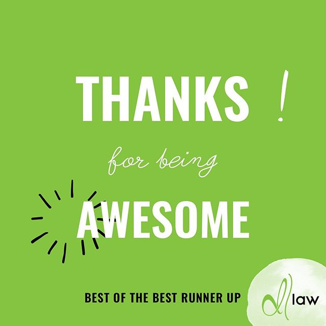 Best of the Best Runner Up! BIG thanks to you! Because of you, Meaghan Delawter and  d|law placed as runner up in Best Attorney and Best Law Firm in the @thefnp Best of the Best. We are so humbled by the support of our community to allow a small business to make it to the top! #grateful #delawterlaw #bestofthebest #mediocrityatitsbest