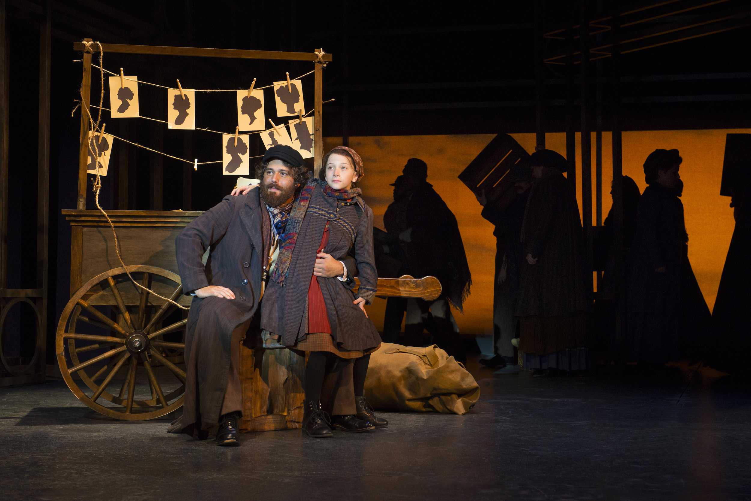 Josh Young and Ella Luke-Tedeschi in  Ragtime  (2017) Photo by Gary Ng.