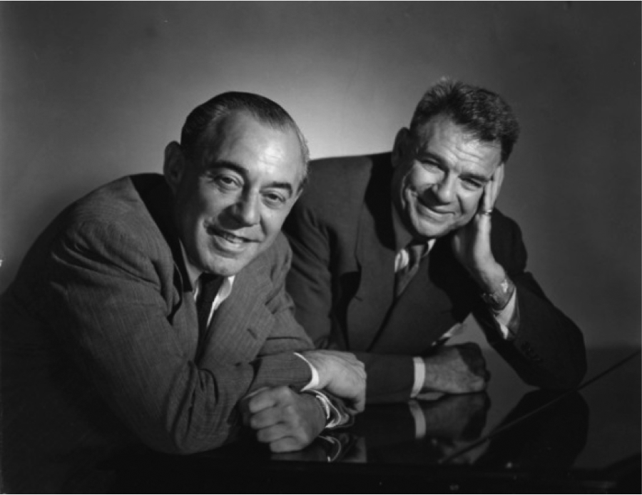 Richard Rodgers and Oscar Hammerstein II, creators of  Oklahoma! , the great American musical.