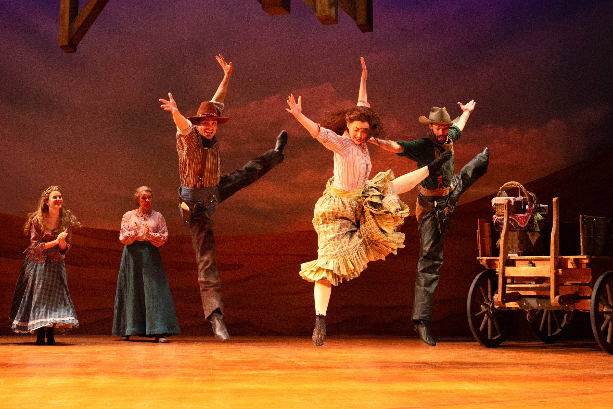 Emilia Brown, Susann Fletcher, Brian Martin, Vanessa Mitchell, and Jon Cooper in the 2018 production of  Oklahoma!  - Photo by Gary Ng