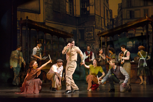 Clyde Alves and the cast of  An American in Paris  (2018) Photo by Gary Ng