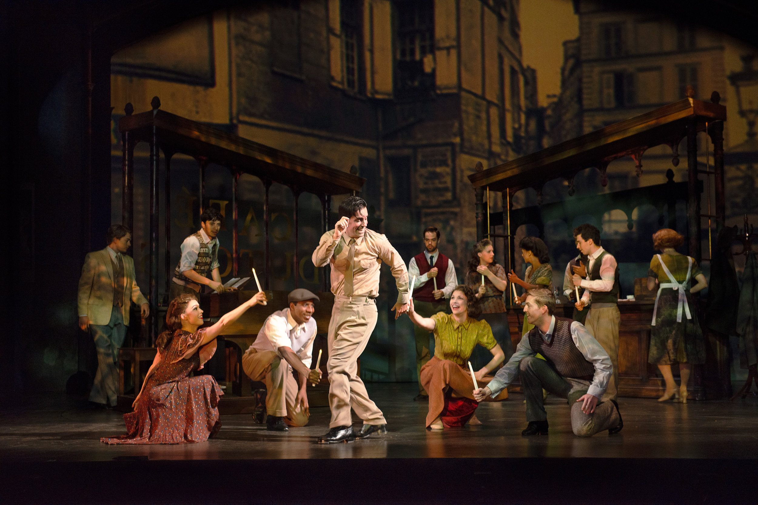 Clyde Alves and cast in the 2018 production of An American in Paris. Photo by Gary Ng.