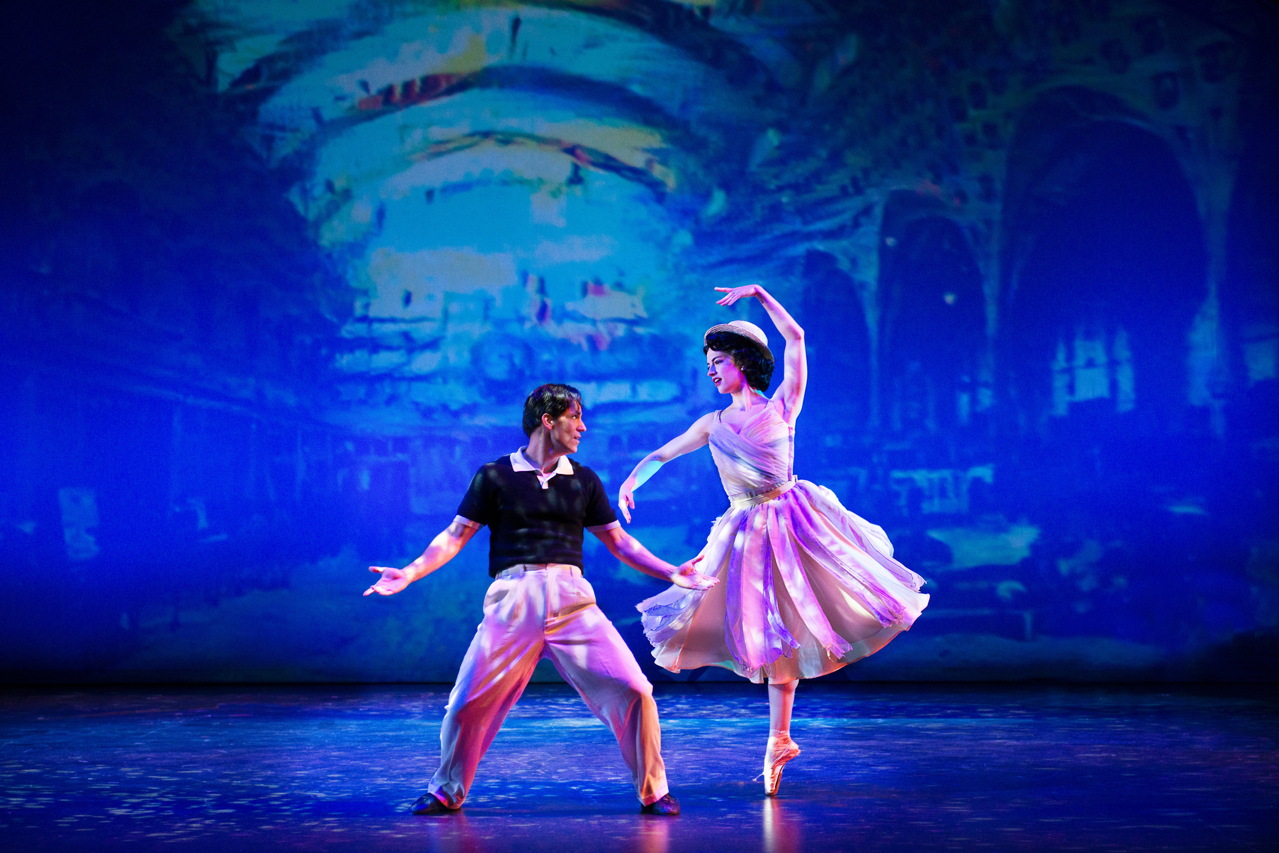 Clyde Alves and Julie Eicher in the 2018 production of An American in Paris. Photo by Gary Ng.