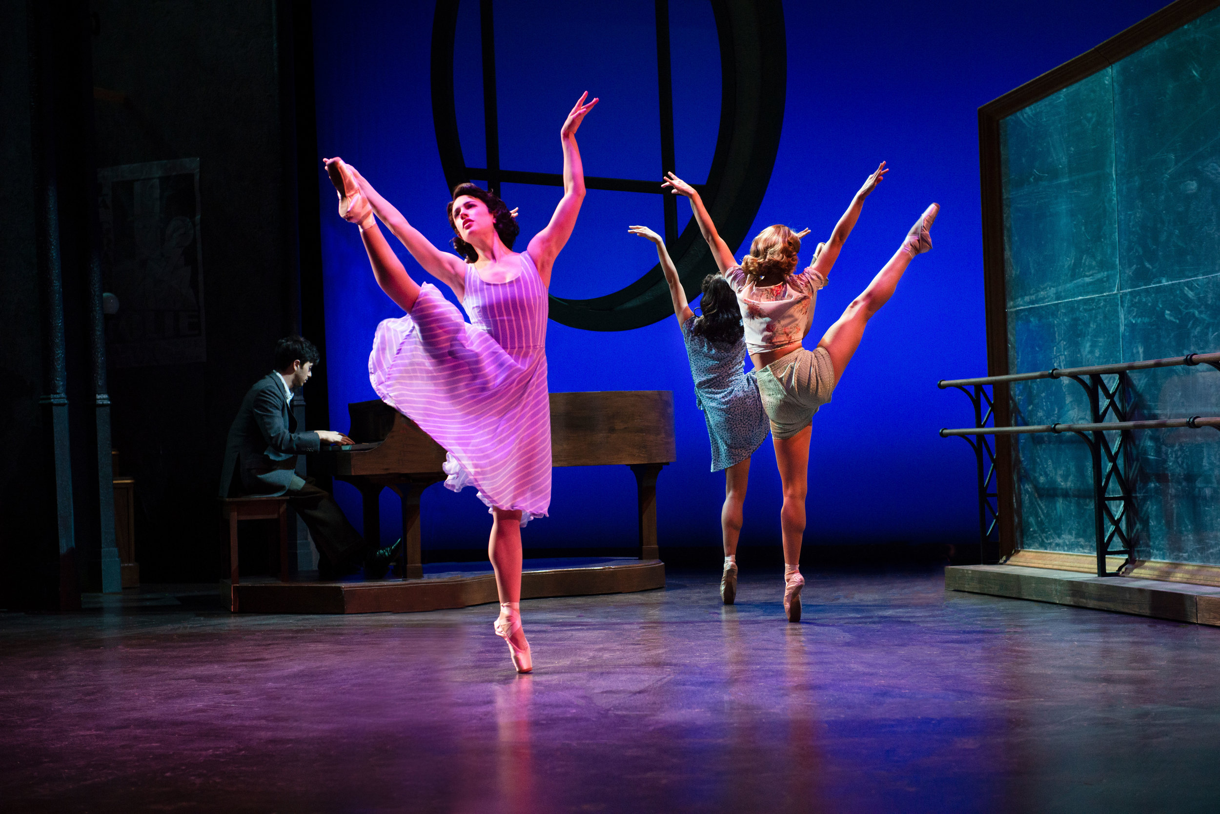 Jeremy Greenbaum, Julie Eicher, Akina Kitazawa, and Hannah Jennens in the 2018 production of An American in Paris. Photo by Gary Ng.