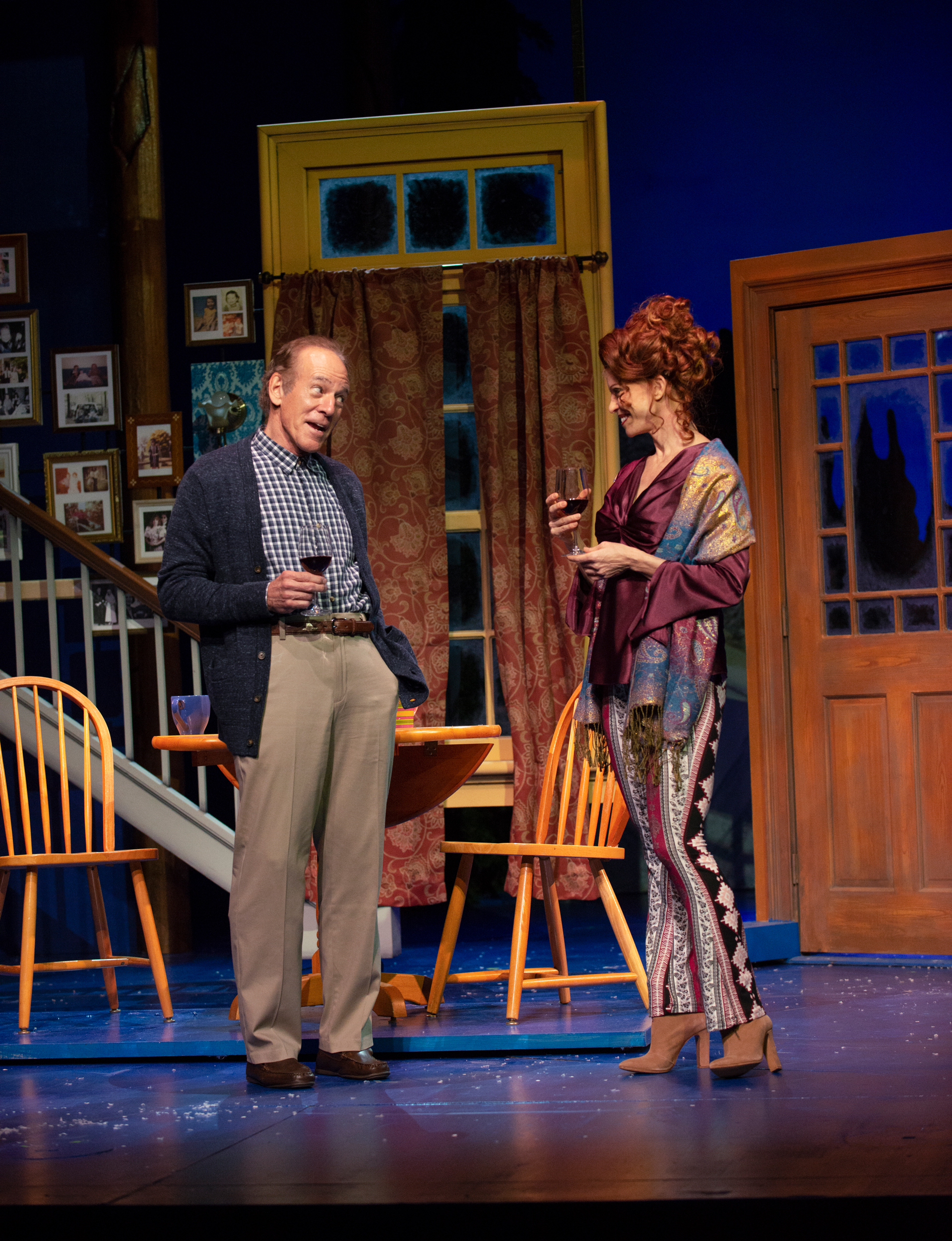 Mark Jacoby and Leslie Stevens in Grumpy Old Men the Musical at the Ogunquit Playhouse. Photo by Gary Ng.