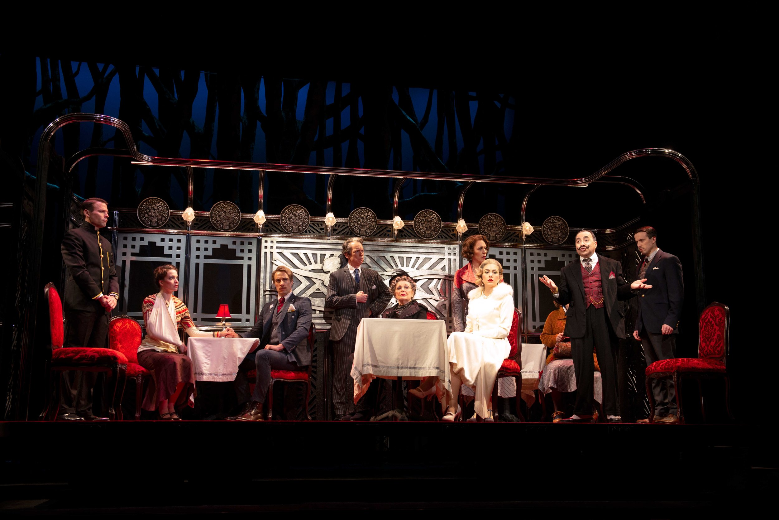 The cast of Agatha Christie's Murder on the Orient Express at the Ogunquit Playhouse. Photo by Gary Ng
