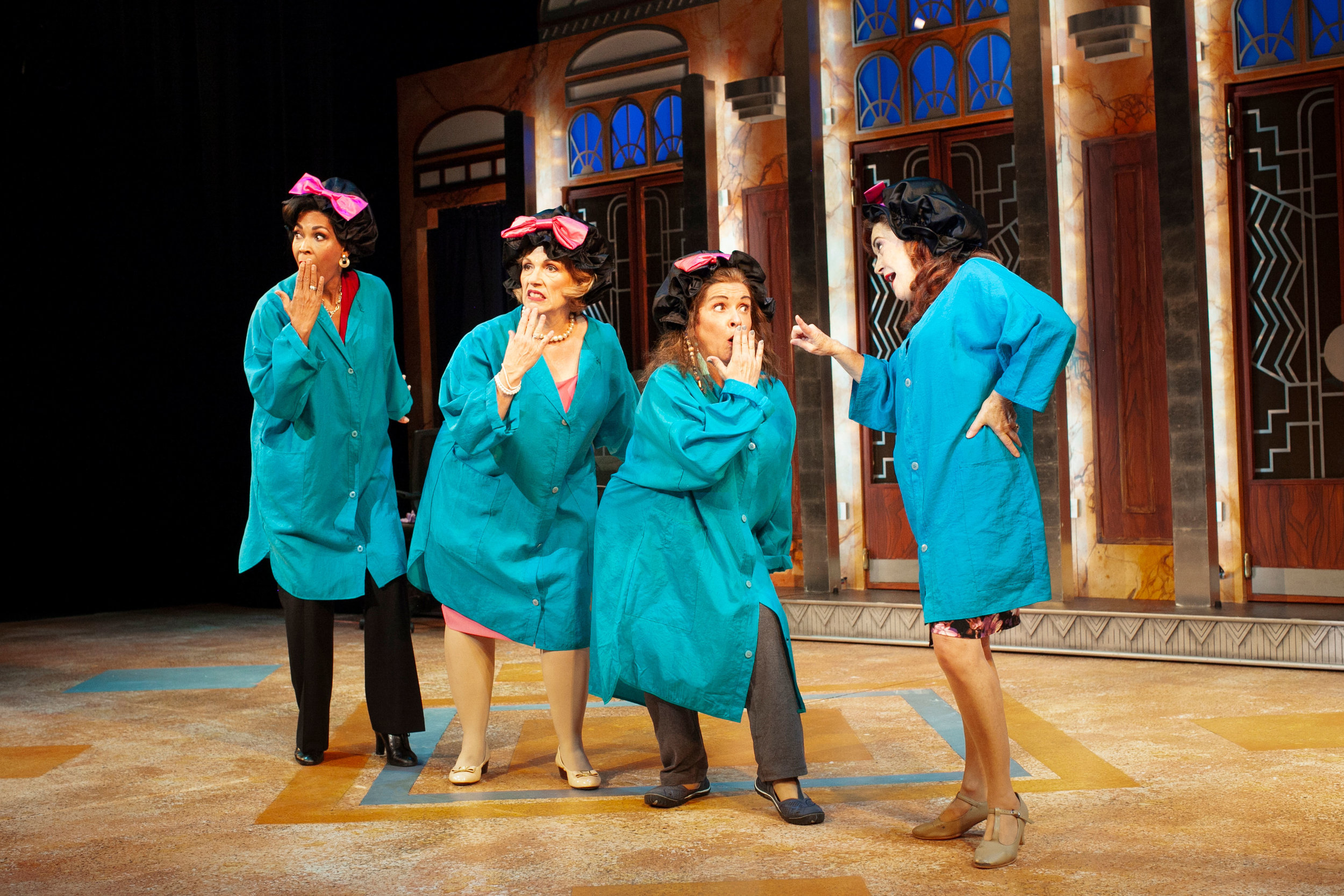 Anise Ritchie, Roberta B. Wall, Melanie Souza, and Kathy St. George in Menopause The Musical® (2019) Photo by Jay Goldsmith