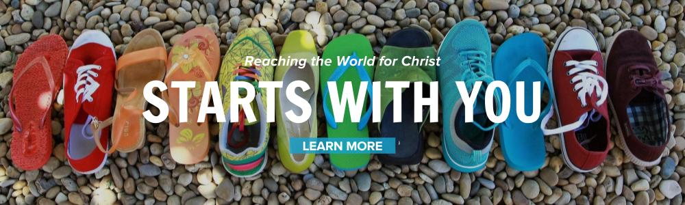 Image: Reaching the World for Christ One Step at a Time