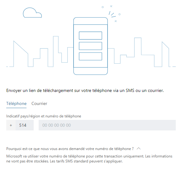 Microsoft Corporation,  Interface de téléchargement d'une application , 2018