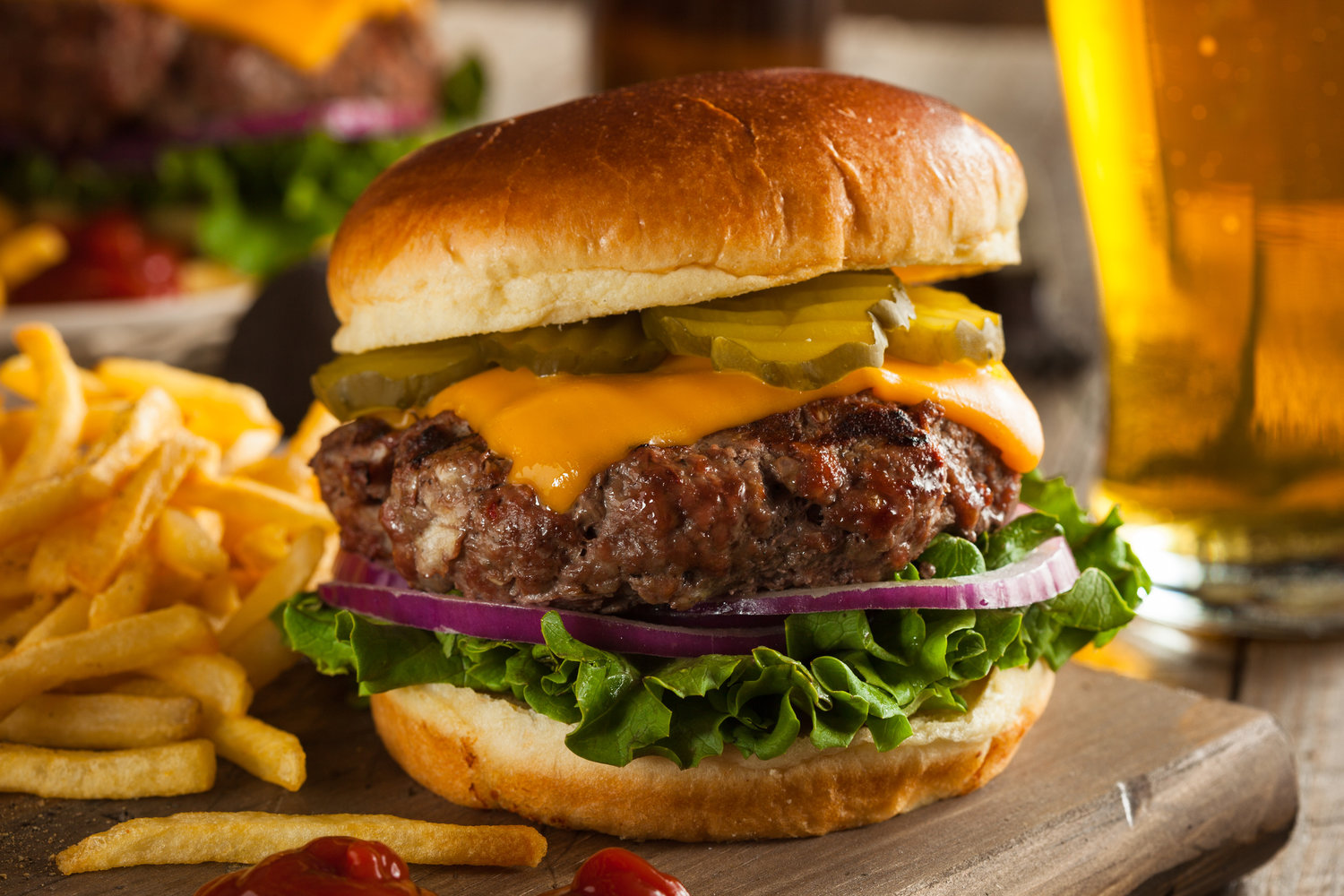 You can get more heart-healthy omega-3s by choosing grass-fed meat like this delicious burger over its industrial counterpart according to the British Journal of Nutrition.