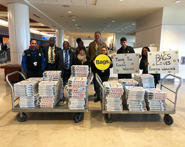 The government may be open but we still wanted to make sure  the federal workers at Orlando International Airport were well-fed before the paycheck comes ✈️ A huge thank you to all the FAA, TSA, and CBP employees for their dedication and hard work over the last 35 days!