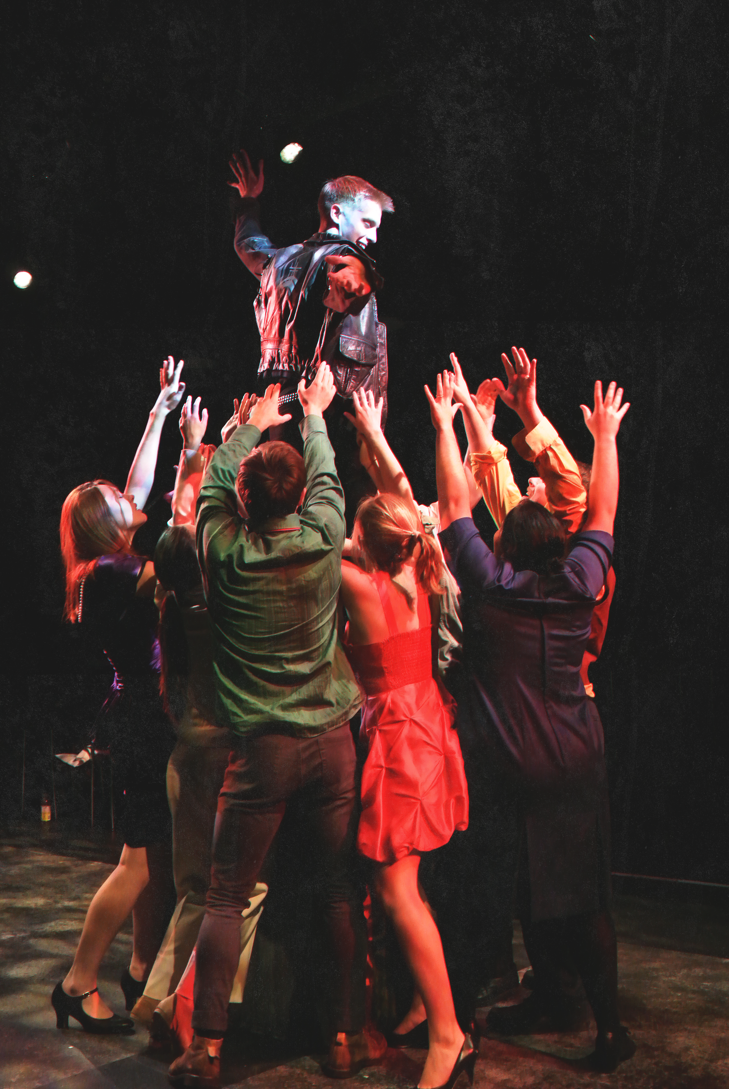This image is from the Lane Comely Studio 210 production of  Mad Forest , dir. Judy Braha.