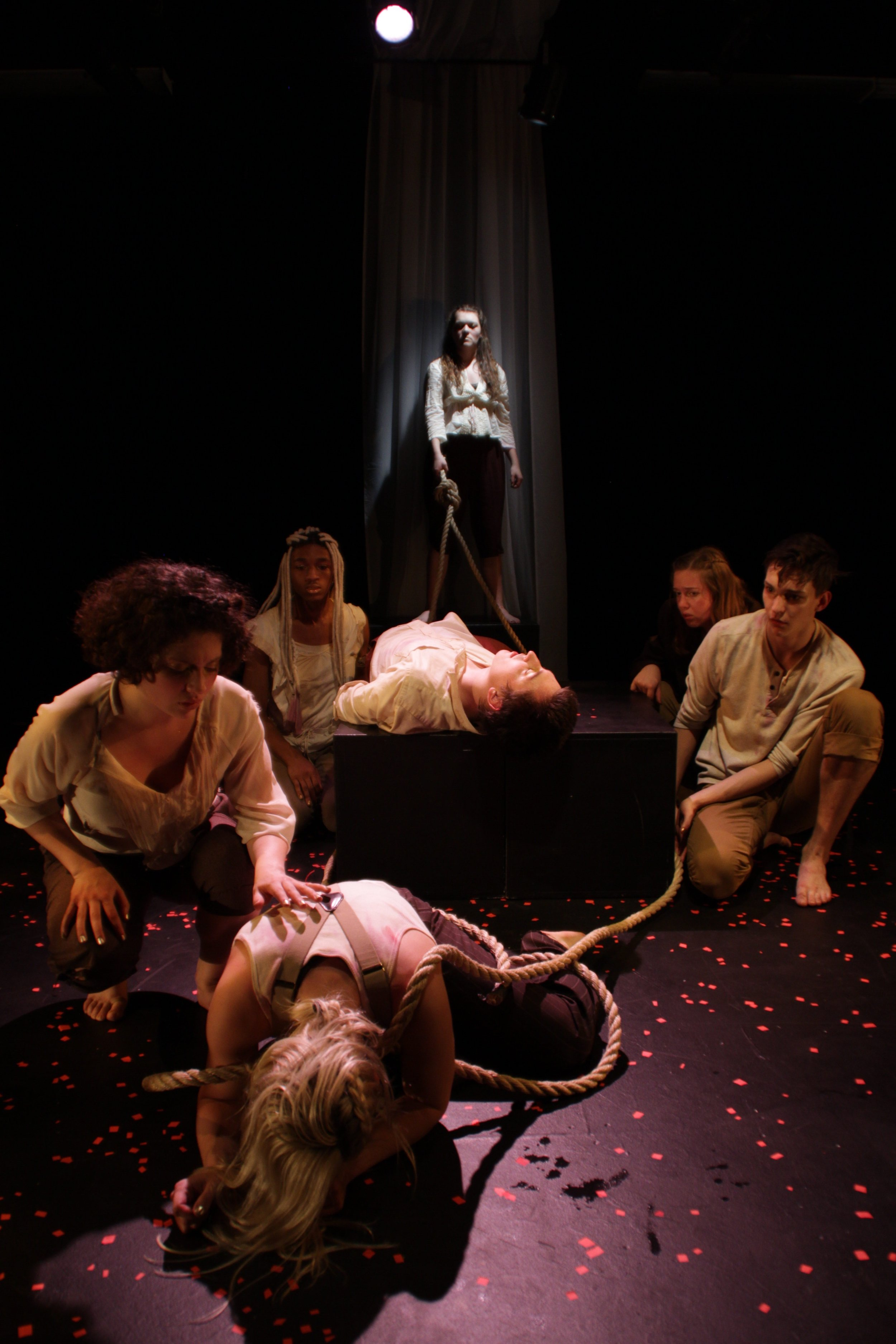 Raw production footage from the Boston University production  Of Blood and Dirt
