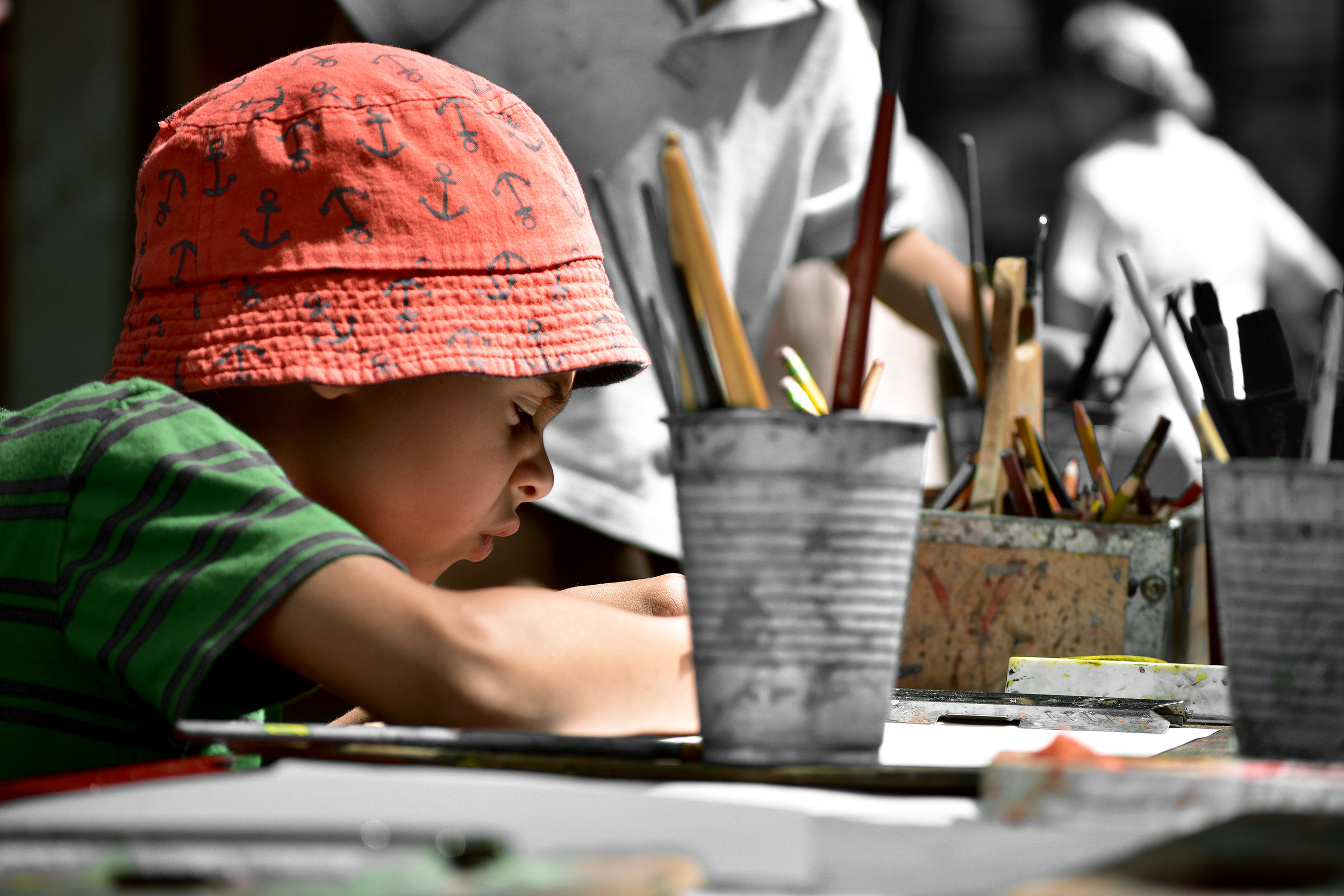 The process of childhood is one where our experience shades the colors of our perspective. It is a mix of coloring within the lines and having color imprinted upon us.
