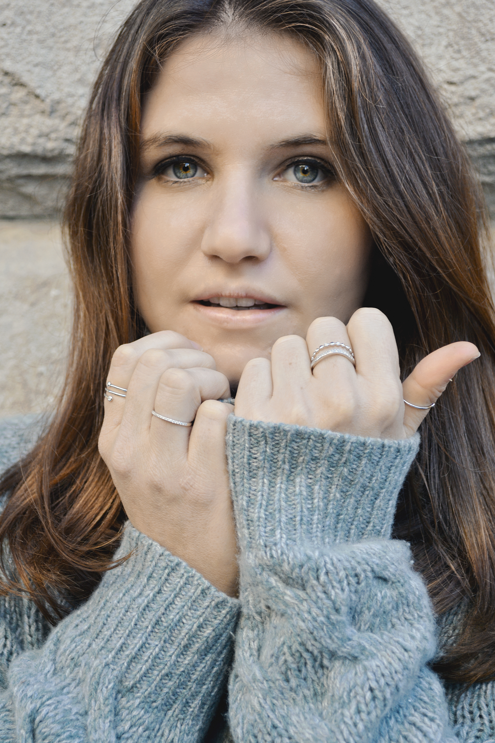 Jewelry designed by  Erth  featured in the Ace-Picked Fall Fashion Photo Shoot
